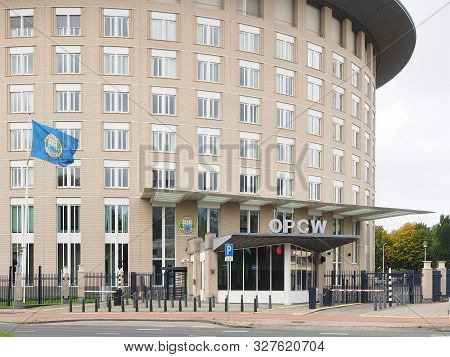 The Hague, Netherlands - September 27, 2019: The Headquarter Building Of The Organisation For The Pr