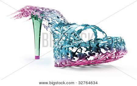 Colored Shoes Isolated