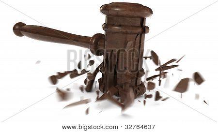 Broken Judge Hammer