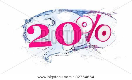 20 percent Summer Sale Or Discount Tags