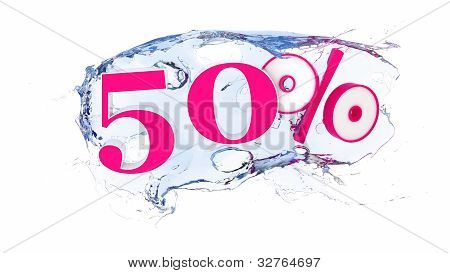 50 percent Summer Sale Or Discount Tags