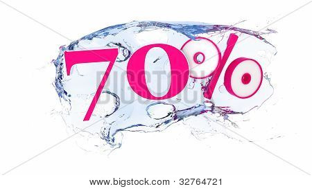 70 percent Summer Sale Or Discount Tags