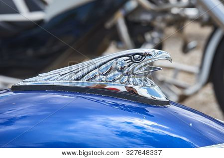 Pontarlier - Bourgogne Franche Comté France - June 16th 2019 - Eagle With Open Mouth Motorcycle Mudg