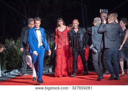 Monica Bellucci, Gaspar Noe, Vincent Cassel at the 76 Venice International Film Festival 2019. Irreversible red carpet. Venice (Italy), August 31th, 2019