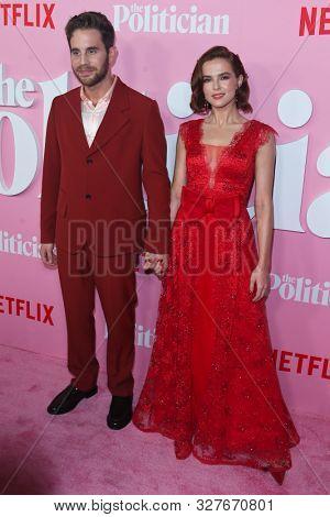 NEW YORK-SEPT 26: Ben Platt (L) and Zoey Deutch attend Netflix's