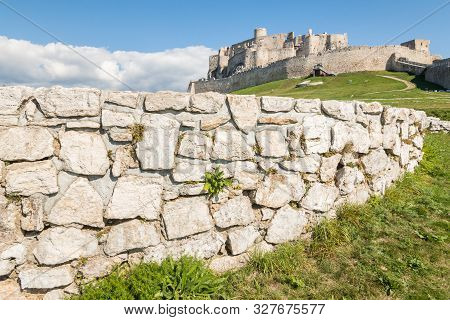 Defensive Wall At Spis Castle (spissky Hrad) Ruins In Slovakia, Central Europe