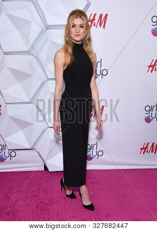 LOS ANGELES - OCT 13:  Katherine McNamara arrives for the 2nd Annual Girl Up #GirlHero Awards on October 13, 2019 in Beverly Hills, CA