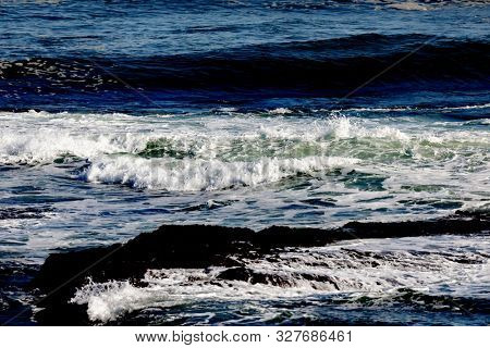 Beautiful view of the coast with natural textures and colors