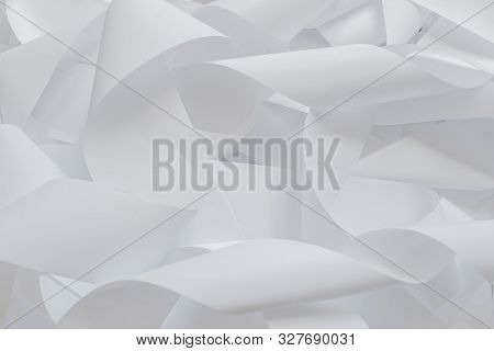Roll Of Cash Register Tape Isolated On Soft Gray Background.high Resolution Photo.