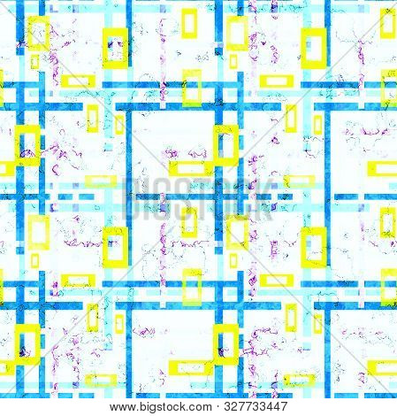 Seamless Geometrical Bright Colors Rectangular Shapes Pattern Background