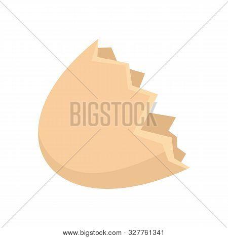 Half Eggshell Icon. Flat Illustration Of Half Eggshell Vector Icon For Web Design