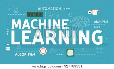 Machine Learning Concept. Artificial Intelligence Learning New Algorithm