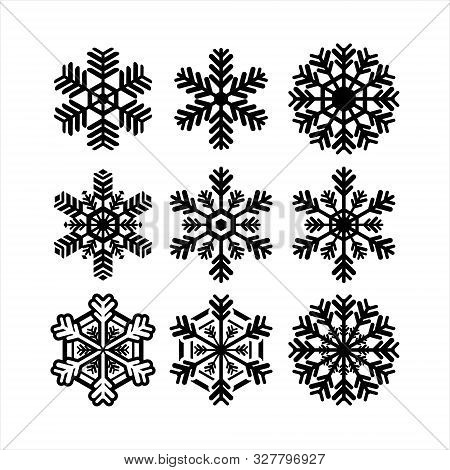 Vector Illustration Of Snowflake Collection, Suitable For Web Icons And Applications And So On.