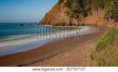 Kirby Cove Beach, California, Usa, Long Exposure