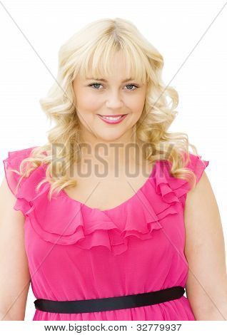 Pretty In Pink - Beautiful Woman Smiling