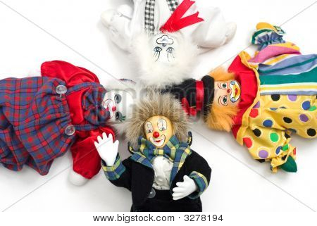 Clown Quartet On The White