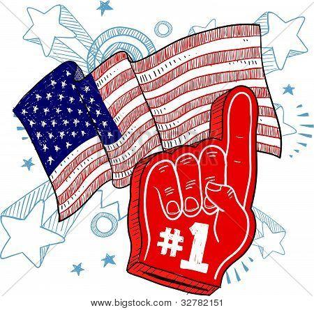 America is #1 illustration