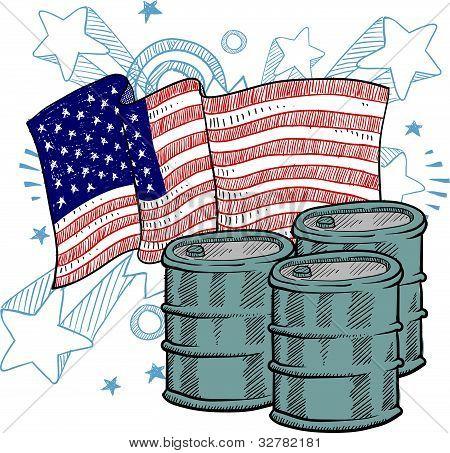 American oil illustration