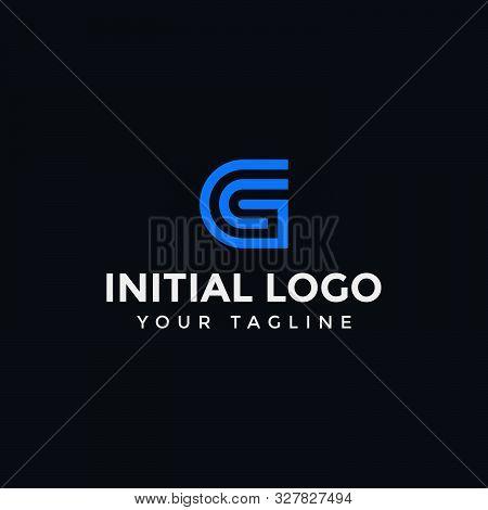 Monogram Initial Of Letter Gc Or Cg Logo Design Template