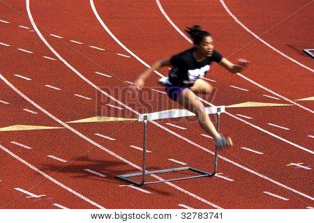 Junp over a hurdle