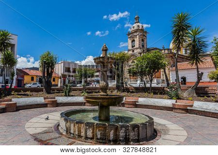 Paipa , Colombia - February 14, 2017 : Parque Principal Jaime Rook Paipa Boyaca in Colombia South America
