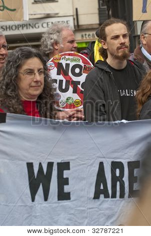 Over A 100 People From Across The City Of Exeter Came Together To Have A Rally And  Demonstrate Abou