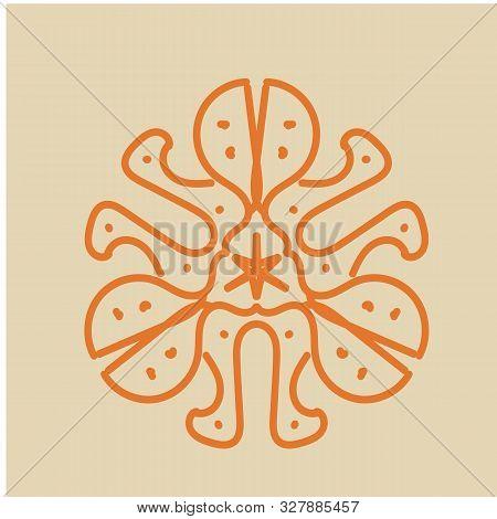 Geometric Pattern In The Shape Of A Flower