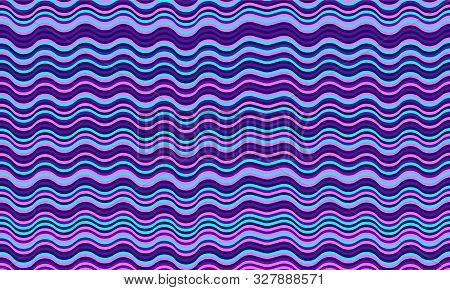 Vintage Wavy Stripes Background. Waves, Curve Lines Ripple Texture. Card Background Pattern Vector.