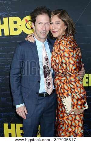 LOS ANGELES - OCT 14:  Tim Blake Nelson, Lisa Benavides at the HBO's Watchman Premiere Screening at the Cinerama Dome on October 14, 2019 in Los Angeles, CA