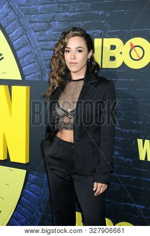 LOS ANGELES - OCT 14:  Jessica Camacho at the HBO's Watchman Premiere Screening at the Cinerama Dome on October 14, 2019 in Los Angeles, CA