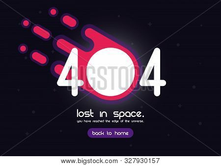404 Error Page, Template For Website, Lost In Space