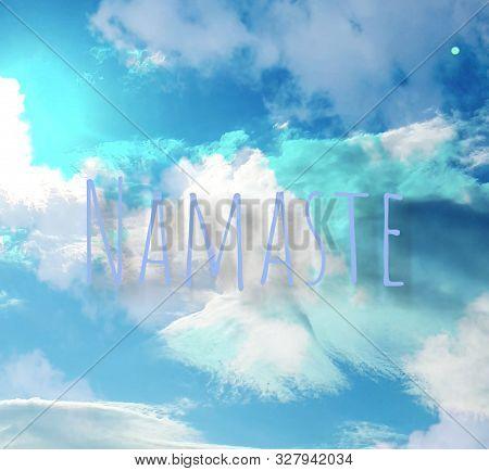 Peaceful Blue, White And Turqoise Energy, Namaste, Light Energy