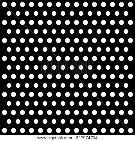 Halloween Pattern Polka Dots. Template Background In Black And White Polka Dots . Seamless Fabric Te