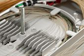 Splicing fibers on spice tray in gigabit passive optical networks poster
