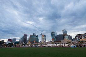Merdeka Square In Downtown Kuala Lumpur At Morning.