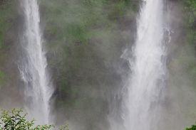 Tadfan Waterfall,beautiful Waterfall In The Beautiful Rainy Season In Laos.