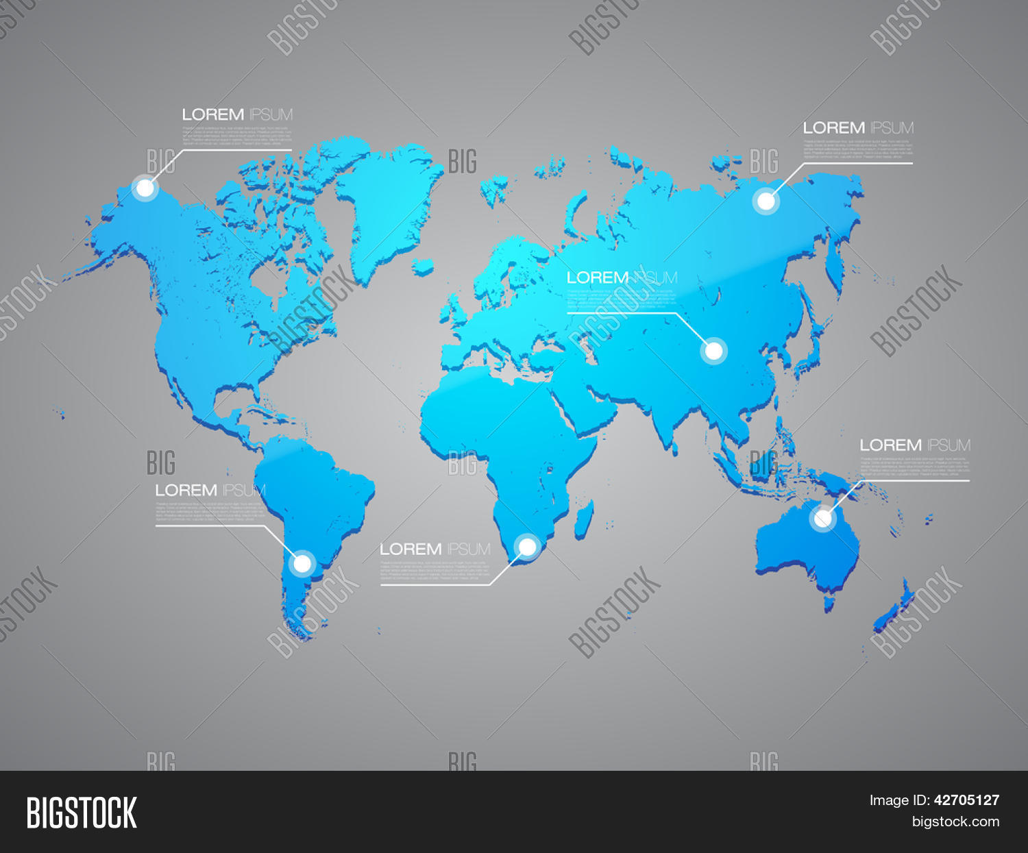 Blue world map vector photo free trial bigstock blue world map with infographic elements eps10 editable vector background gumiabroncs Gallery