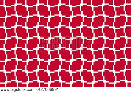 Simple Geometric Pattern In The Colors Of The National Flag Of Denmark