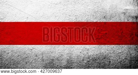 White-red-white Flag Of Belarusian Democratic Republic, Belarus And Belarusian Democracy Movement. G