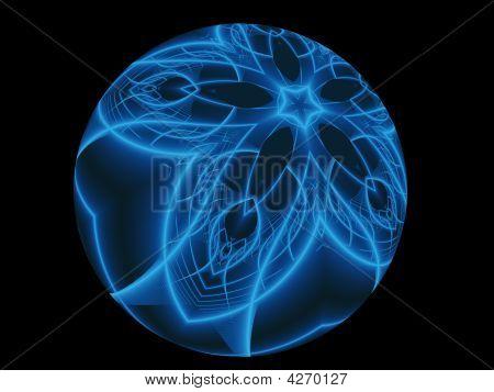 Glowing Blue Sphere