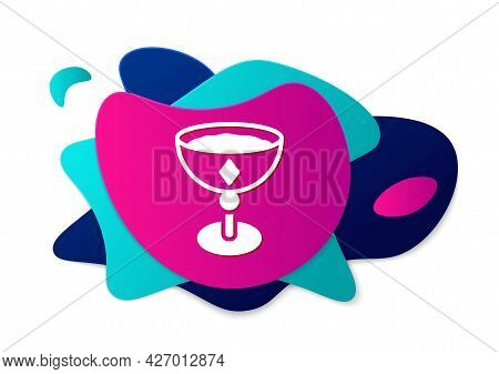 Color Medieval Goblet Icon Isolated On White Background. Abstract Banner With Liquid Shapes. Vector