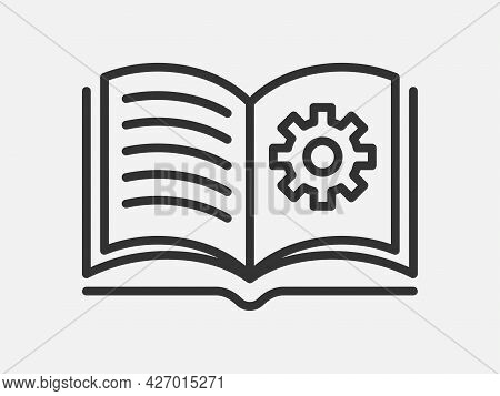 Guide Icon Vector, User Manual. Service Information Document, Instruction.