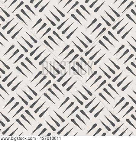 Vector Pattern Repeating Three Rows Of Checkered Plates, Texture Background. Pattern Is On Swatches