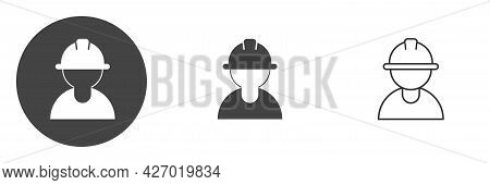 Construction Worker Icon Isolated On White Background. Symbol Of Worker, Labor, Employment And Const