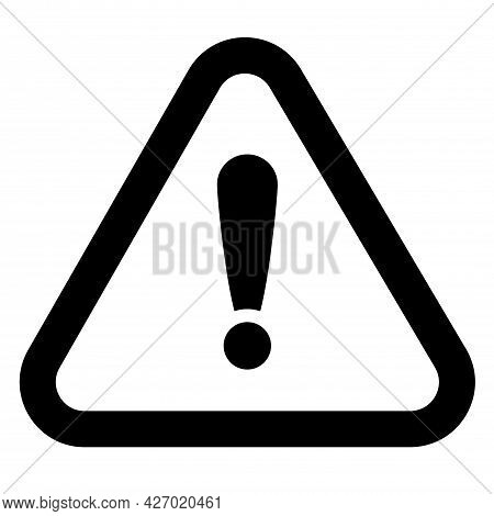 Danger Sign Vector Icon. Attention Attention Caution Illustration. Simple Flat Pictogram Isolated On