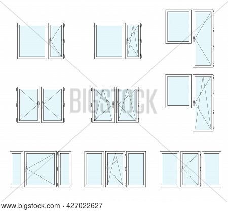 Installation Of Plastic Windows, Various Types Of Windows And Balcony Doors. Advertising Installatio