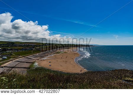 A Veiw Of The Beach At St Bees In Cumbria England On A Summers Day