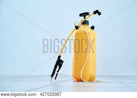 Professional Disinfectant Sprayer . Photo With A Copy-space.