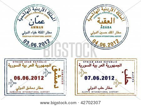 Reisepass-Briefmarken