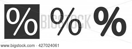 Percentage Vector Icon Isolated. Discount And Sale Symbol. Modern And Editable Percent Icon. Simple